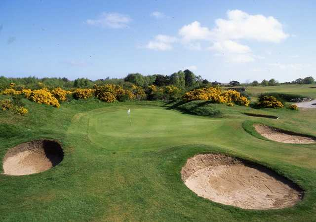 View of the 8th hole at Nairn Dunbar Golf Club