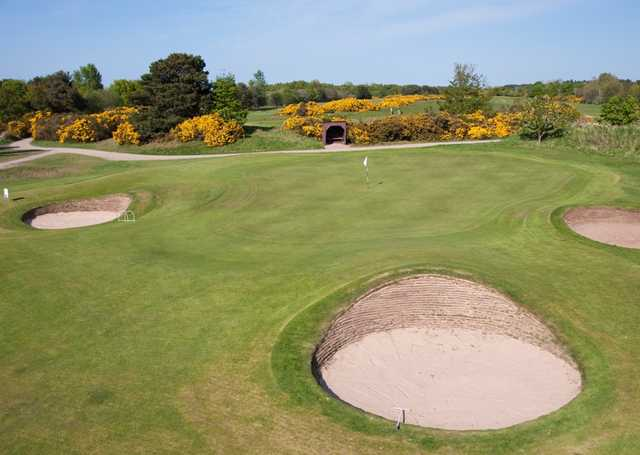 View of the 3rd hole at Nairn Dunbar Golf Club