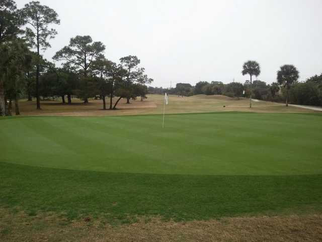 A view of the 15th hole at Hidden Lakes Golf Course