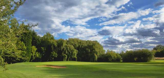 View of a green at Thorpe Wood Golf Course