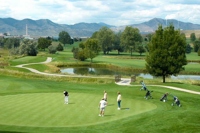 A view of a green at Executive from Foothills Golf Course