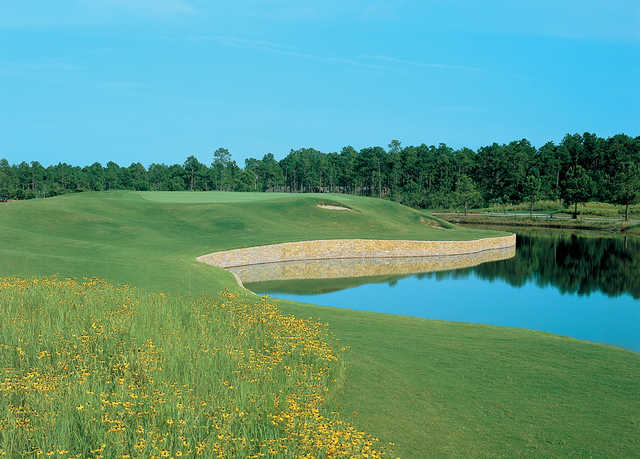A view of a hole at Thistle Golf Club