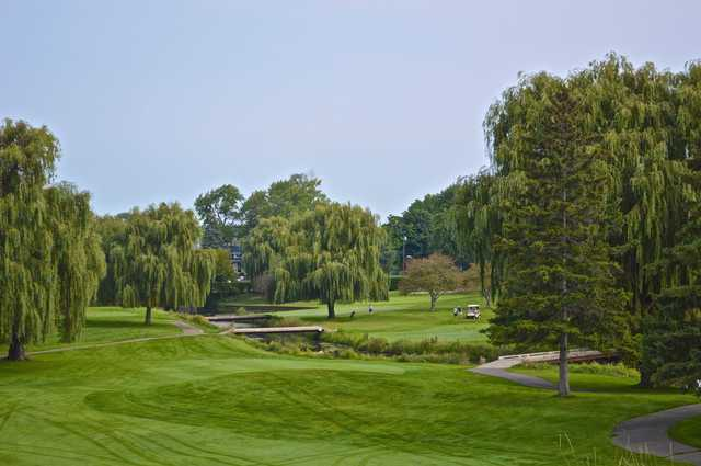 A view near green #8 at Washtenaw Golf Club.