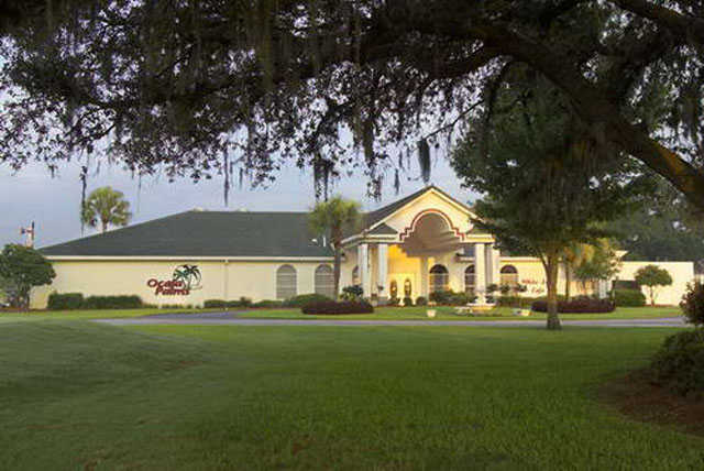 A view of the clubhouse at Ocala Palms Golf Club