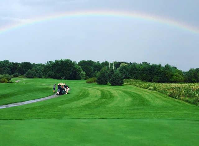 A view of a fairway at Pewaukee Golf Club
