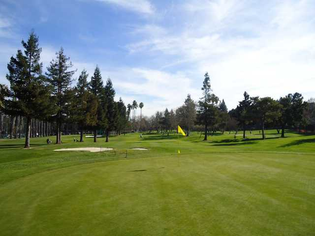 A view of a hole at Sunnyvale Golf Course