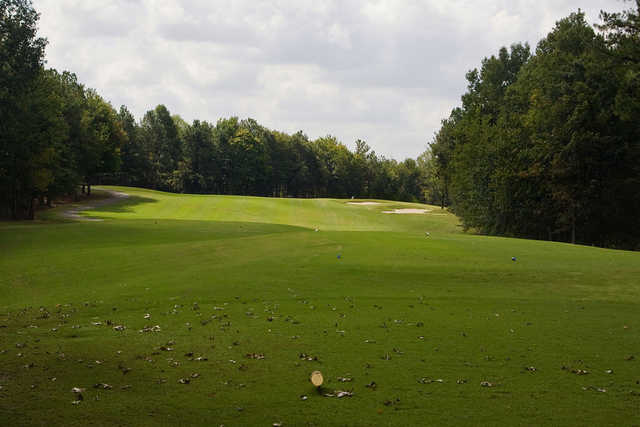 A view from a tee at Chicopee Woods Golf Course