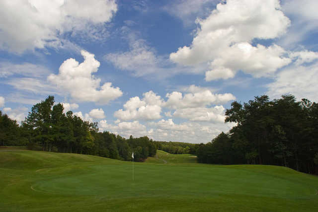 A view of a hole at Chicopee Woods Golf Course