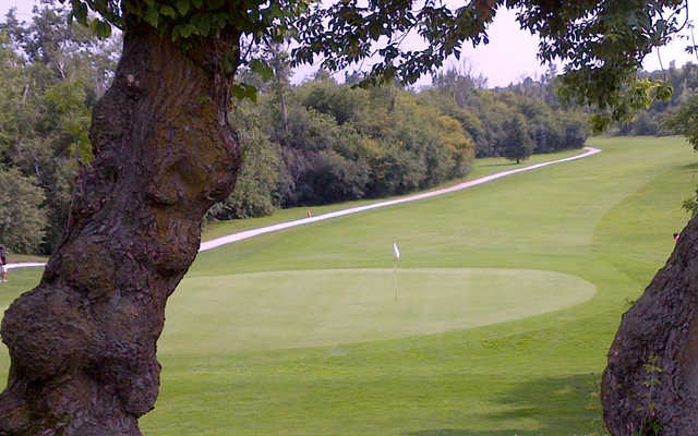 A view of a hole at Mayfield Golf Club