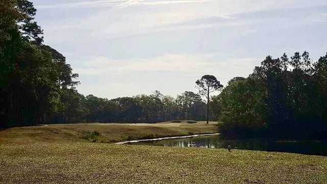 A morning view of hole #2 from Arthur Hills at Palmetto Hall Plantation