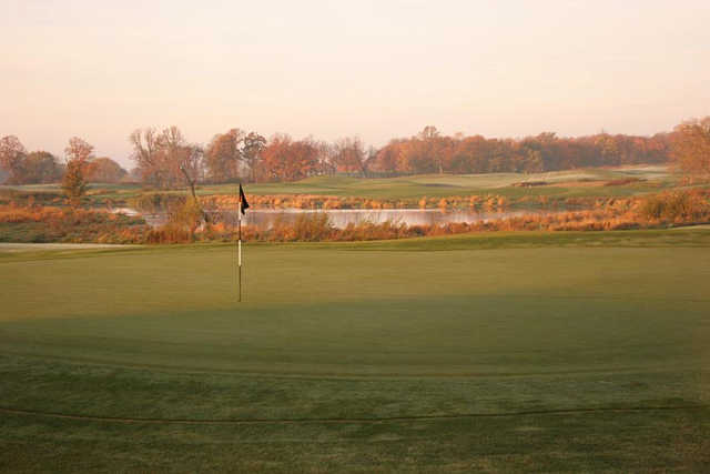 A view of green #7 at Ponds from Geneva Golf Club.