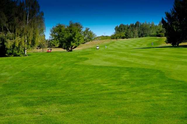 A view of a fairway at North Battleford Golf and Country Club.