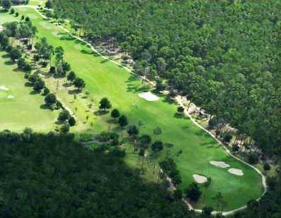 Aerial view of hole #10 at Halifax Plantation