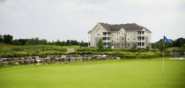 A view of a green at Les Capucines from Club de Golf La Providence.