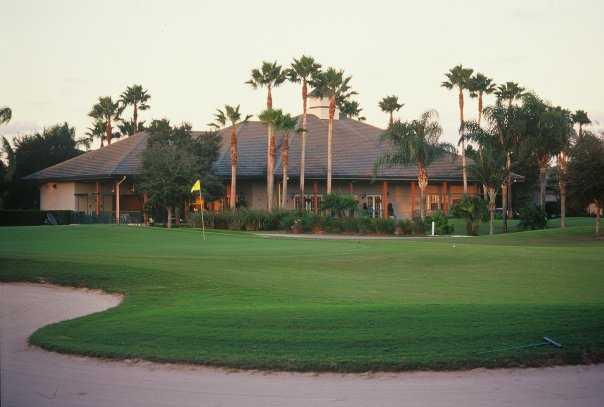 A view of the 18th green at Hammock Creek Golf Club