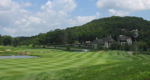 A view of a fairway at Old Kinderhook Golf Course.