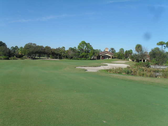 A view of the 18th hole at Palm Cove Golf & Yacht Club