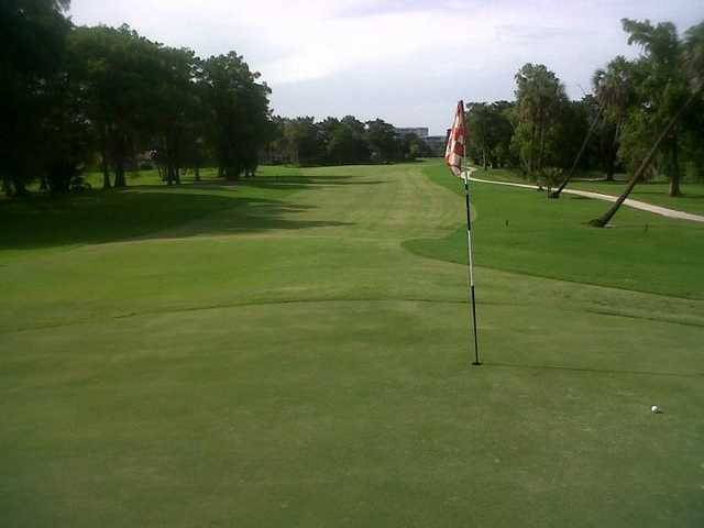 A view of the 2nd hole at Palm-Aire Country Club - Cypress Course