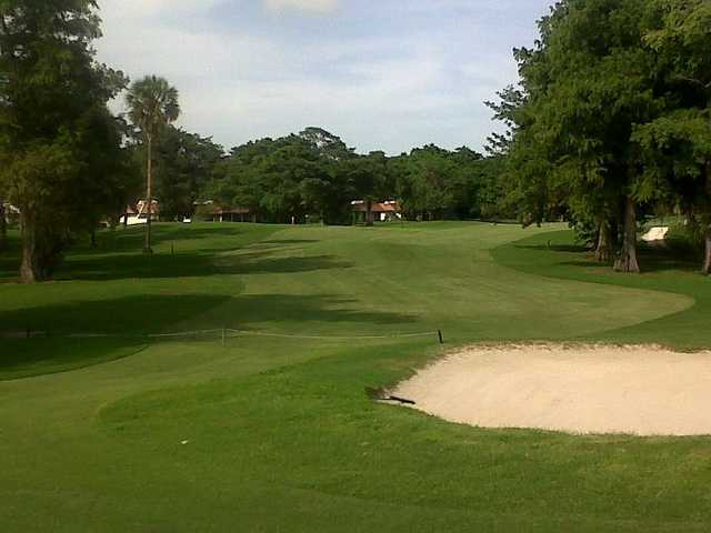A view of green #3 at Palm-Aire Country Club - Cypress Course