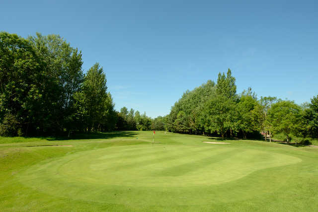 Looking back from a green at Rookery Park Golf Club