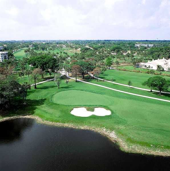 A view of hole #16 at Palm-Aire Country Club - Oaks Course