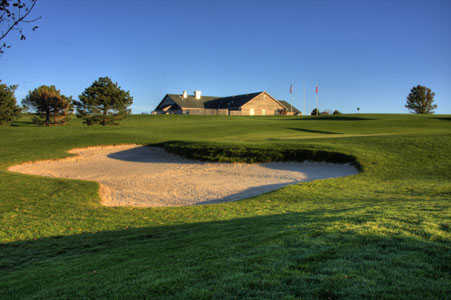 A view of the clubhouse at Table Creek Golf Course