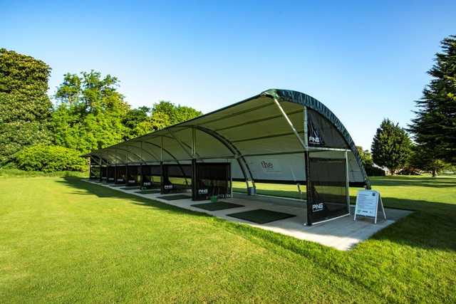 View of the driving range at Burghley Park Golf Club
