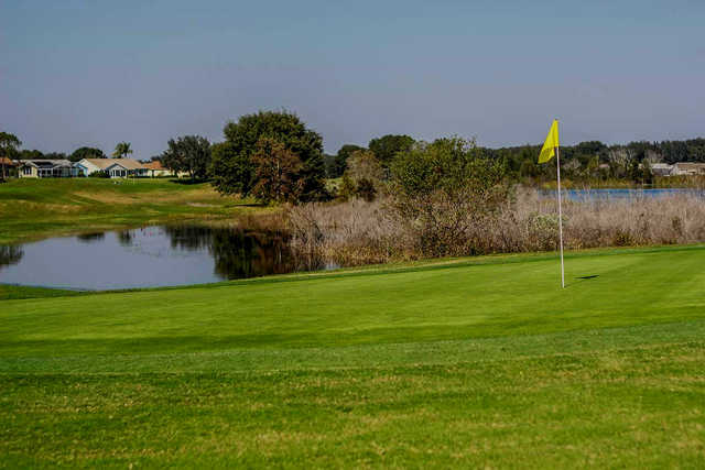 A view from a green at The Plantation Golf Club