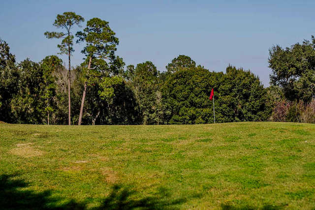 View of a green at The Plantation Golf Club