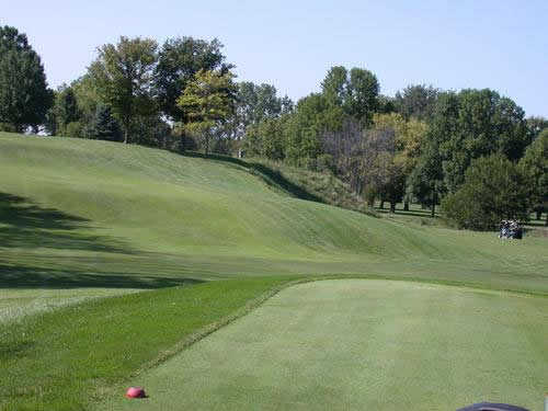 A view from the 18th green at Lost Creek Golfers Club