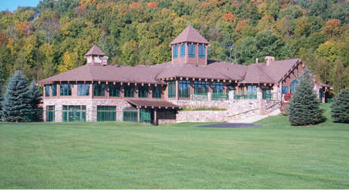 A view of the clubhouse at George Young Recreation