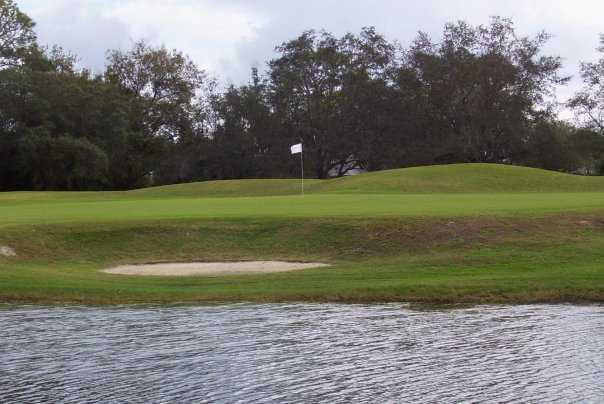 A view of green #9 at Spruce Creek Country Club
