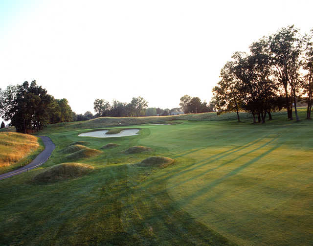 Approach to the 7th hole at The Architects Golf Club