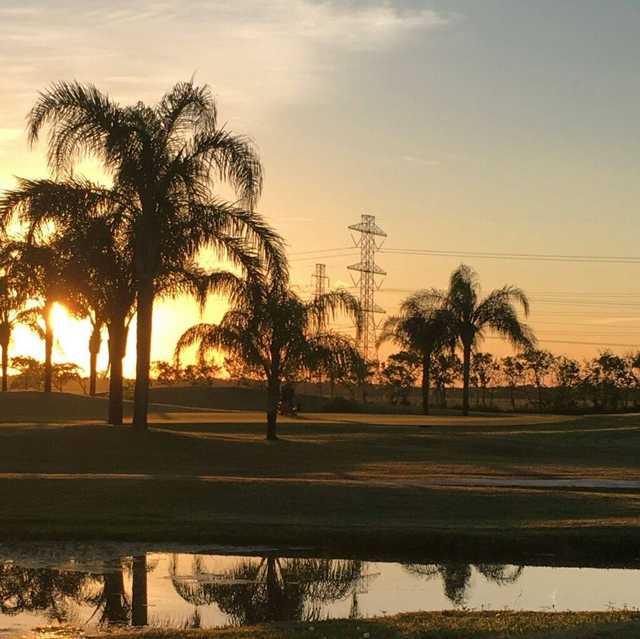 Sunset at Freeport Municipal Golf Course