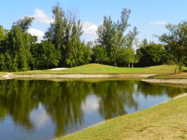 A view of green #7 at Sanibel Island Golf Club