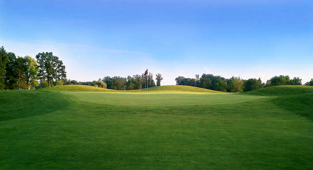 View of  a green at The Emerald Golf Course
