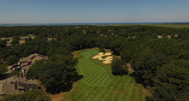 Aerial view of the 1st hole at Kings Way Golf Club