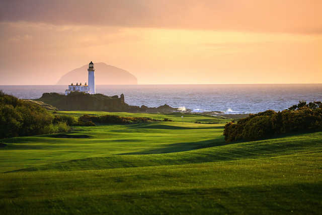 Sunset view from King Robert the Bruce at Trump Turnberry