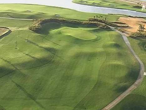 Aerial view of green at Duran Golf Club - Championship Course