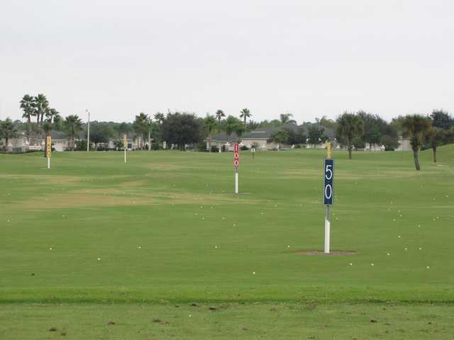 A view of the practice area at Viera East Golf Club