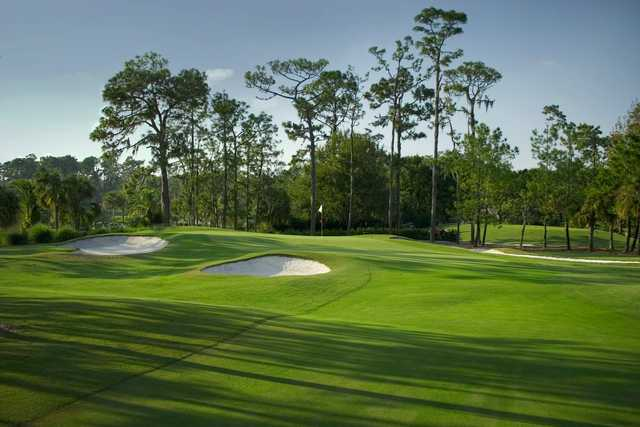 A view of the 4th hole at Palmer from Saddlebrook Golf & Tennis Resort.