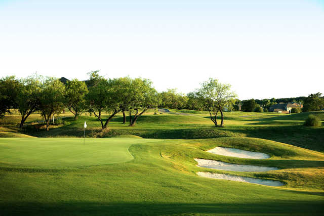 View of the finishing hole at Hidden Creek Golf Club