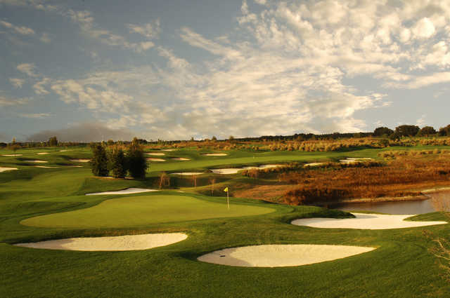 A view of the 9th green at Orange County National - Crooked Cat Course