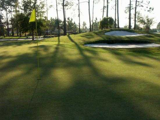 A view of the 2nd green at Links of Lake Bernadette