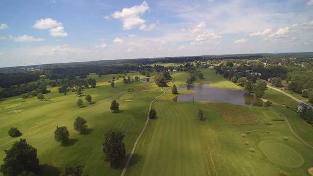 Aerial view from Lake Shore Country Club