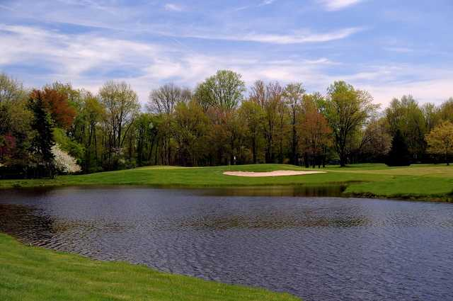 A view of the 13th hole at Tanglewood Club.