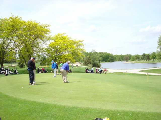 A view of the putting green at Auglaize Golf Club