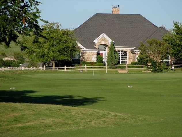 A view of the clubhouse at Lost Creek Golf Course