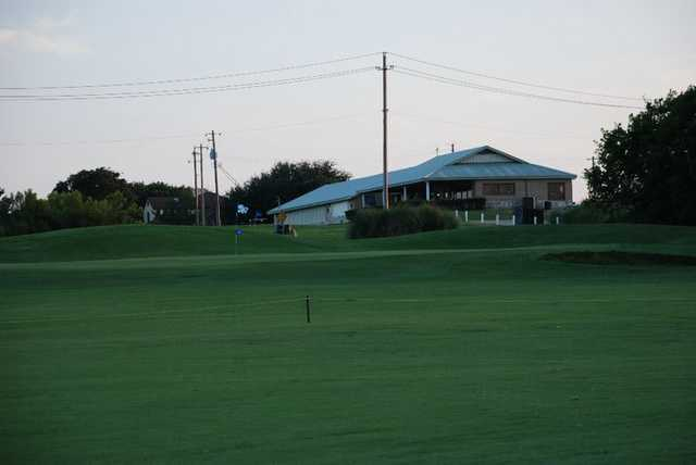 A view of the clubhouse at Bluebonnet Hill Golf Club & Range