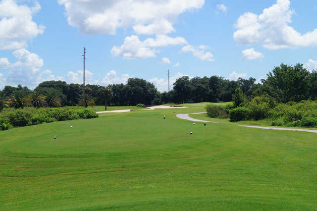 View of the 17th tee at White Heron Golf Club